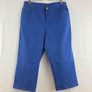 Ralph Lauren Petite Sz 6 Blue Cropped Capri Pants